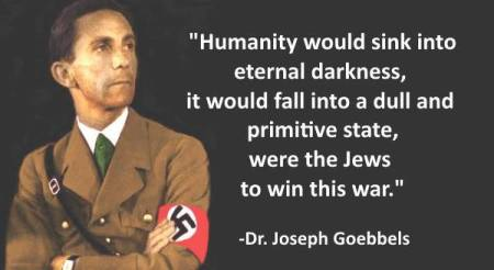Image result for Goebbels Jews quotes